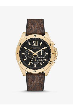 Michael Kors MK Oversized Brecken Logo and Gold-Tone Watch