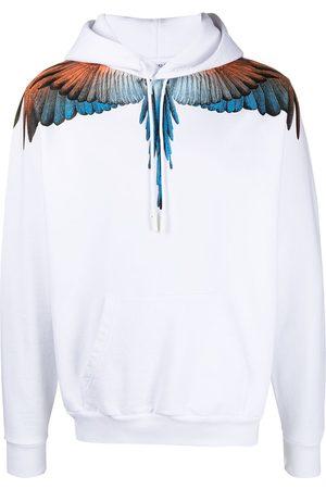 MARCELO BURLON Wings-print cotton hoodie