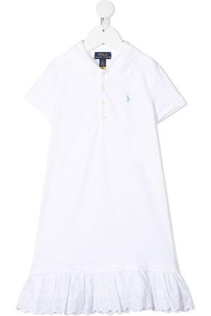 Ralph Lauren Girls Casual Dresses - Flounce hem polo shirt