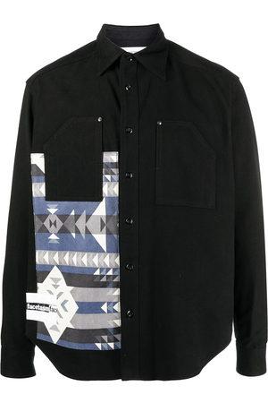 FACETASM Geometric-print knitted shirt