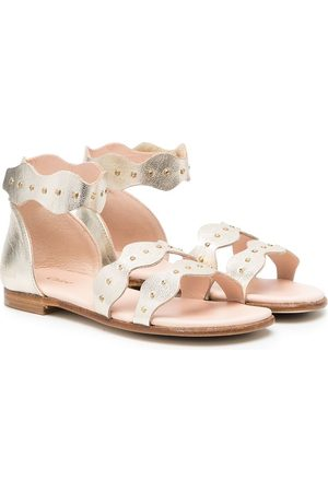 Chloé Girls Sandals - Touch-strap leather sandals