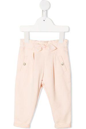 Chloé Bow-detail cotton trousers