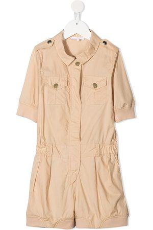 Chloé Short-sleeve cotton playsuit