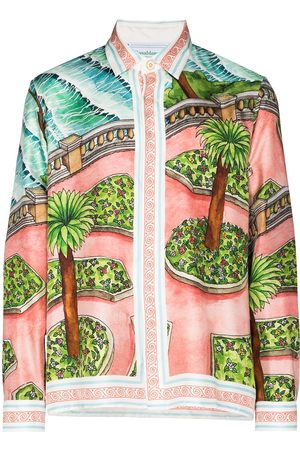 Casablanca X Browns 50 graphic garden print shirt