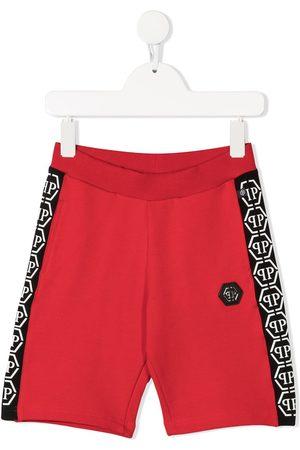 Philipp Plein Side logo panelled track shorts