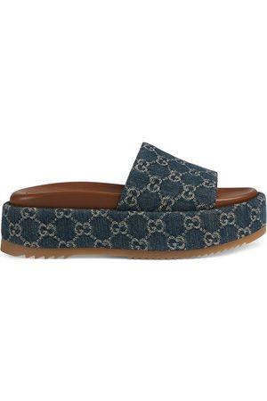 Gucci Women Heeled Sandals - Angelina 55mm platform sandals