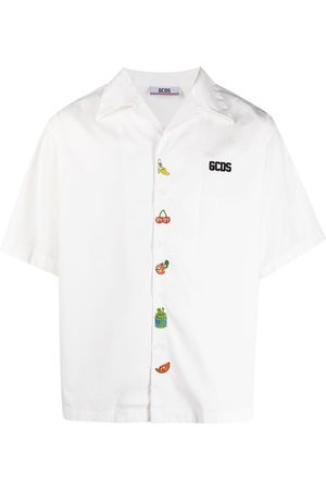 GCDS Ricky and Morty embroidered shirt