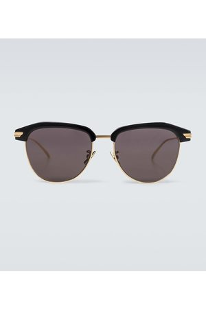 Bottega Veneta Square-framed metal sunglasses