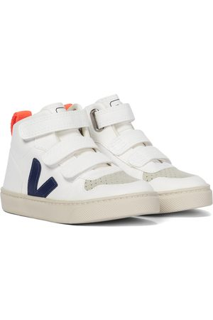 Veja V-10 Mid faux leather sneakers