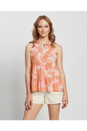 Cartel & Willow Women Tank Tops - Cali Sleeveless Top - Tops ( Tie Dye) Cali Sleeveless Top