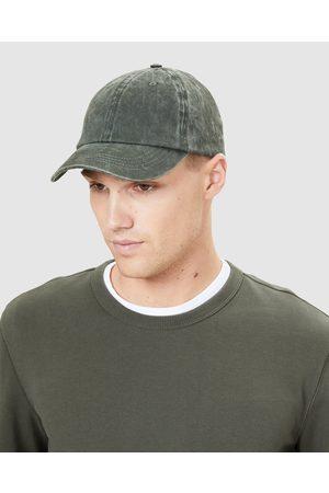 French Connection Men Caps - Vintage Wash Cap - Headwear (MOSS) Vintage Wash Cap