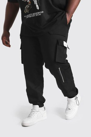 Boohoo Mens Plus Size Slim Fit Utility Jogger With Zip