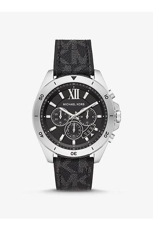Michael Kors MK Oversized Brecken Logo and Silver-Tone Watch