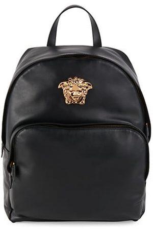 VERSACE Men Backpacks - Logo Leather Backpack