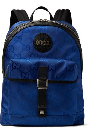 Gucci Men Backpacks - Off the Grid Leather-Trimmed Monogrammed ECONYL Canvas Backpack