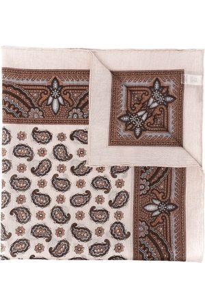 ELEVENTY Men Scarves - Paisley-print cotton scarf