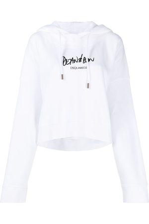 Dsquared2 Logo-print flared hoodie