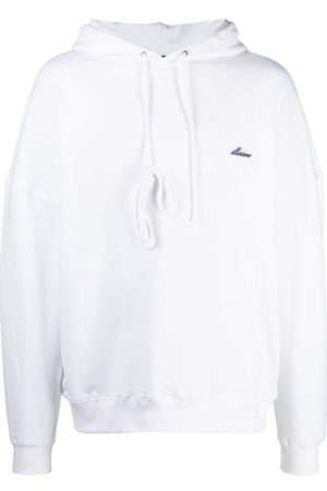 We11 Done Embroidered logo cotton hoodie