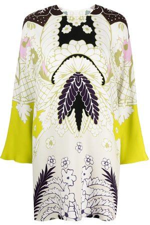 VALENTINO Abstract-print long-sleeve dress
