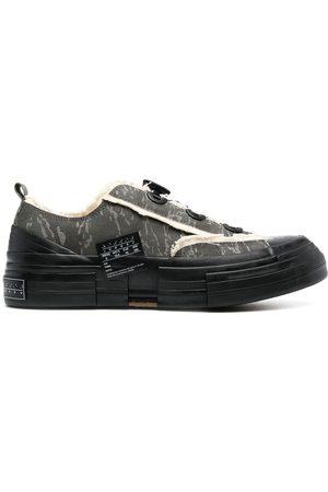 YOHJI YAMAMOTO Men Sneakers - Camouflage-print lace-up trainers