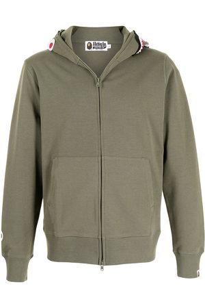 A Bathing Ape Men Hoodies - Logo zipped hoodie
