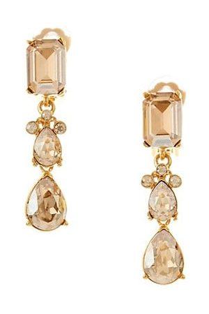 Oscar de la Renta Swarovski Crystal Classic Small Drop Clip-On Earrings