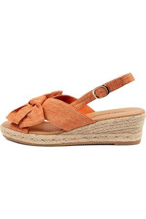 Django & Juliette Santiri Dj Cantaloupe Sandals Womens Shoes Casual Heeled Sandals