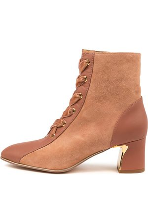 Django & Juliette Jersey Dj Brick Salmon Boots Womens Shoes Casual Ankle Boots