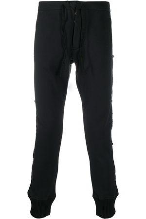 Paul & Shark Logo-panelled slim trousers
