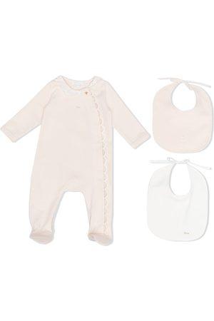 Chloé Kids Scallop-edge cotton pajamas