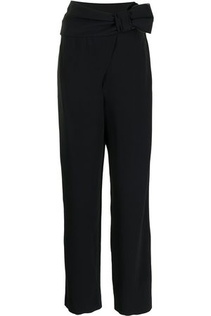 Emporio Armani Women Formal Pants - Bow-detail high-waisted trousers