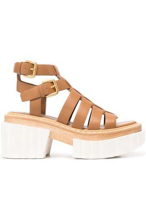 Stella McCartney Women Heeled Sandals - Strappy platform sandals