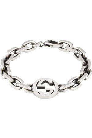 Gucci Men Bracelets - Sterling Interlocking G bracelet