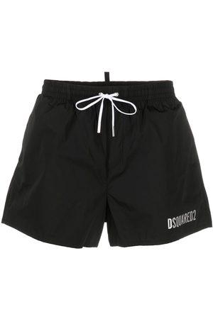 Dsquared2 Metallic-logo swim shorts