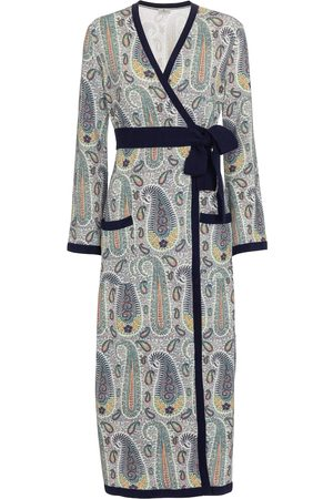 Etro Paisley wrap midi dress