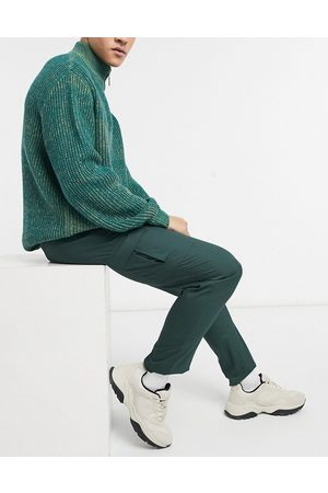 ASOS Skinny cargo smart pants in dark green