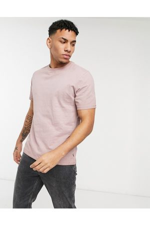 Only & Sons Washed t-shirt in pink-Brown