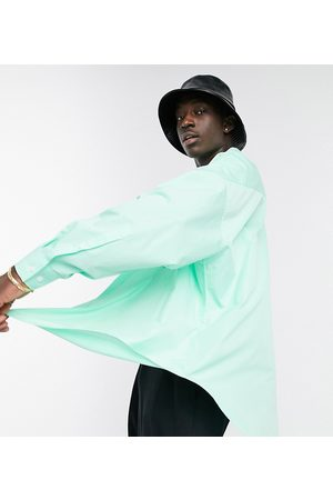 ASOS Extreme oversized dad shirt in lime green