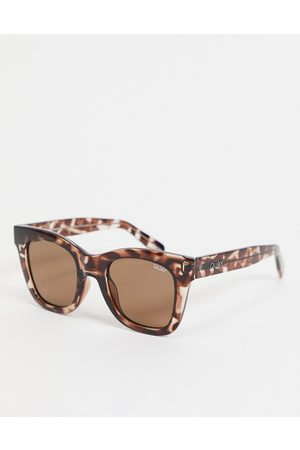 Quay Australia After Hours women's oversized square sunglasses in tort-Brown
