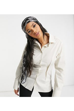 AsYou Oversized waisted shirt in stone