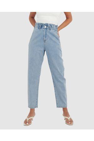 Forcast Women High Waisted - Aubri High Waisted Jeans - High-Waisted (Light Wash) Aubri High-Waisted Jeans
