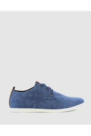 Wild Rhino Men Flat Shoes - Dust Canvas Shoes - Dress Shoes (Navy) Dust Canvas Shoes