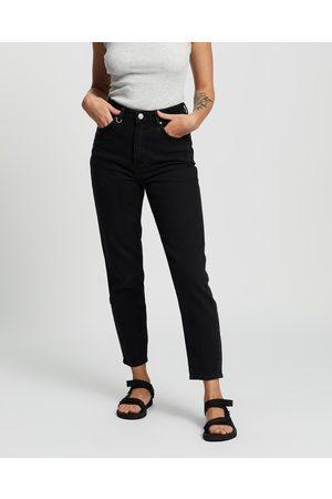 NEUW Women High Waisted - Lola Mom Jeans - High-Waisted (Jet Earth) Lola Mom Jeans