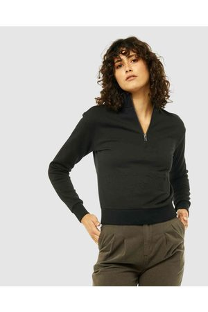 Rusty Women Hoodies - Superb Half Zip Fleece - Sweats & Hoodies (BLK) Superb Half-Zip Fleece