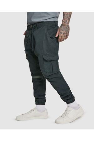 Urban Classics Men Cargo Pants - UC Cuffed Cargo Jogging Pants - Cargo Pants UC Cuffed Cargo Jogging Pants