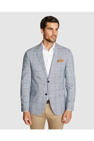 Tarocash Prato Check Linen Blazer - Blazers Prato Check Linen Blazer