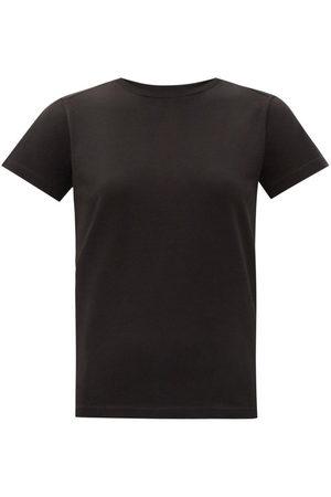Moncler Logo-print Cotton-jersey T-shirt - Womens