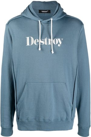 UNDERCOVER Men Hoodies - Destroy embroidered pullover hoodie