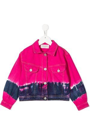 Alberta Ferretti Girls Denim Jackets - Tie-dye denim jacket