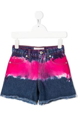 Alberta Ferretti Tie-dye denim shorts